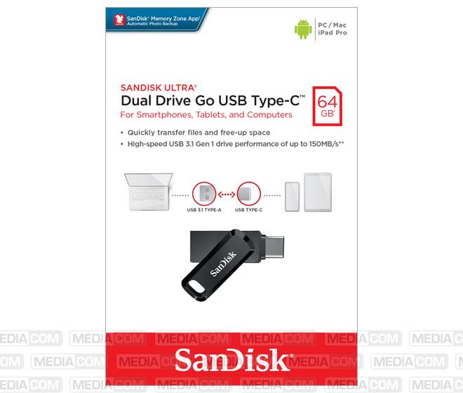 USB 3.1 OTG Stick 64GB, Typ A-C, Ultra Dual Go