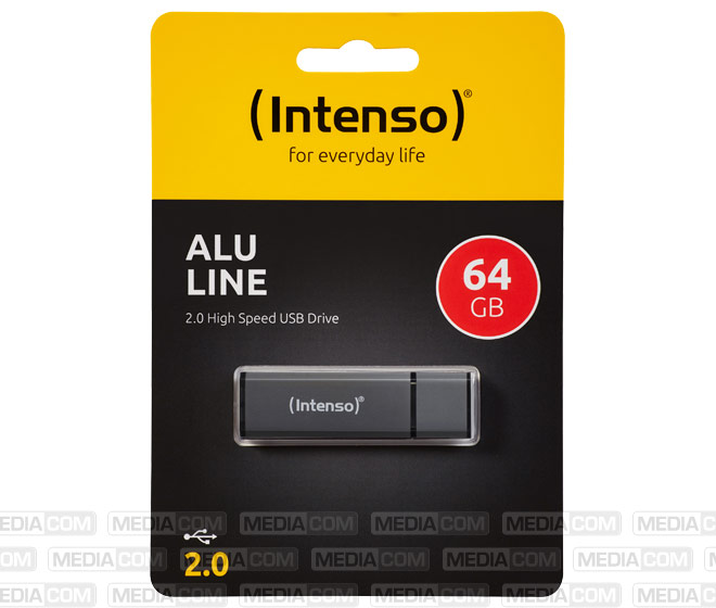 USB 2.0 Stick 64GB, Alu Line, anthrazit