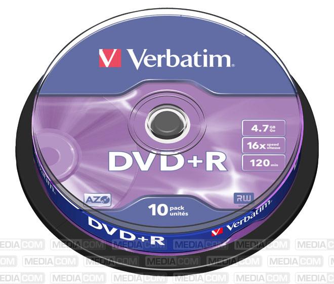DVD+R 4.7GB/120Min/16x Cakebox (10 Disc)