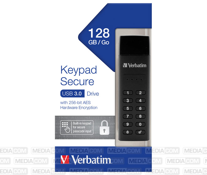 USB 3.0 Stick 128GB, Secure, Keypad