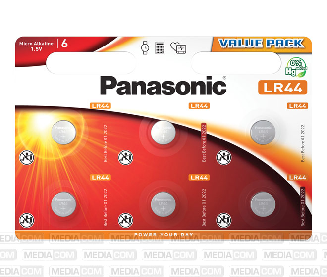 Batterie Alkaline, Knopfzelle, LR44, V13GA, 1.5V