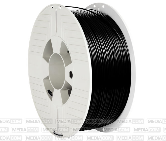 3D Printer Filament, PLA, 1.75mm, 1kg, schwarz