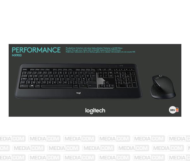 Tastatur/Maus Set MX900, Wireless, Unifying, schwarz