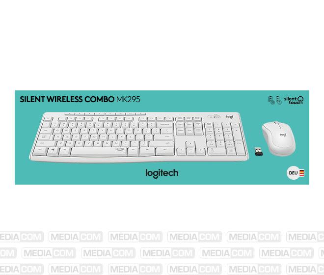 Tastatur/Maus Set MK295, Wireless, Unifying, weiss