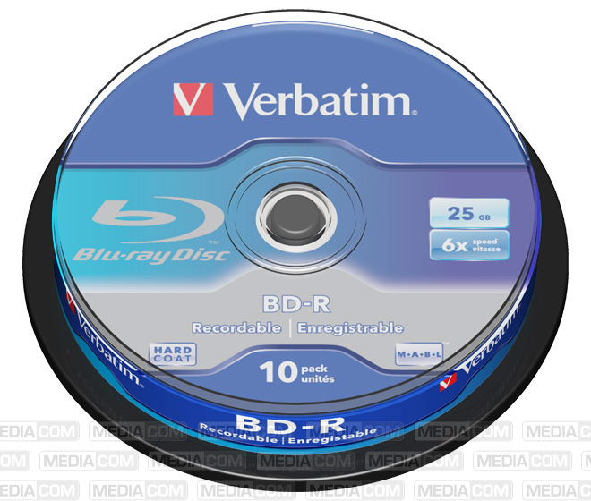 BD-R 25GB/1-6x Cakebox (10 Disc)