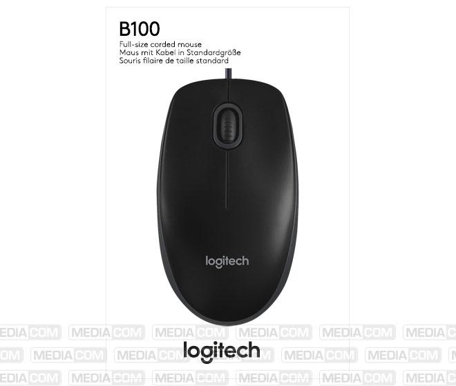 Maus B100, USB, schwarz