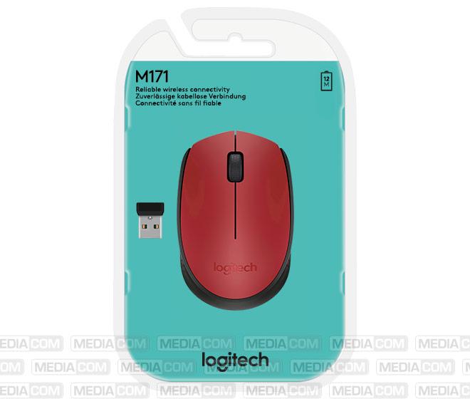 Maus M171, Wireless, rot