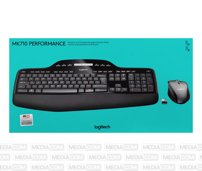 Tastatur/Maus Set MK710, Wireless, Unifying, schwarz