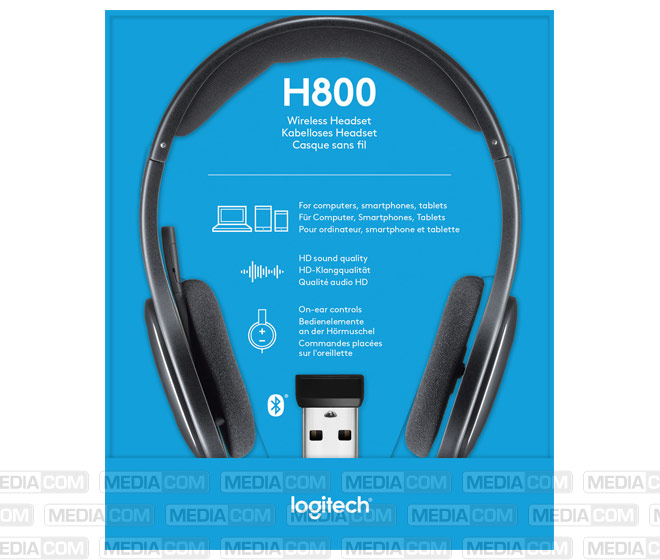 Headset H800, Wireless, Bluetooth, Stereo
