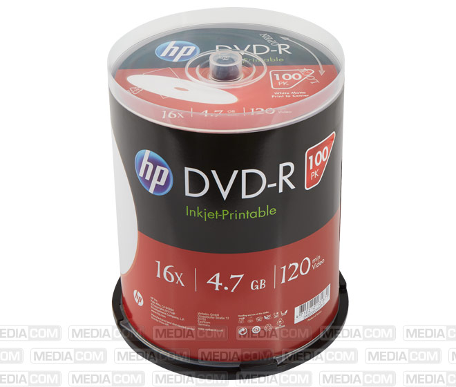 DVD-R 4.7GB/120Min/16x Cakebox (100 Disc)