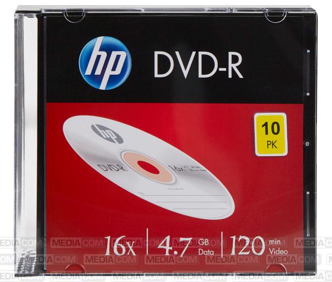 DVD-R 4.7GB/120Min/16x Slimcase (10 Disc)