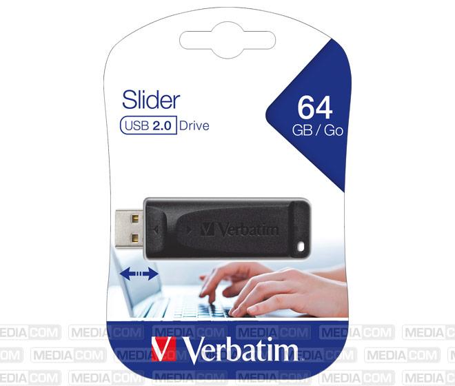 USB 2.0 Stick 64GB, Slider