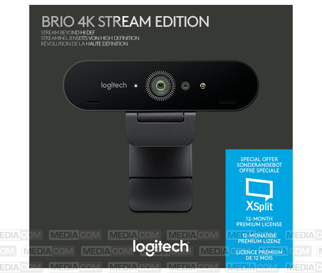 Webcam BRIO Stream, USB, 4K Ultra HD