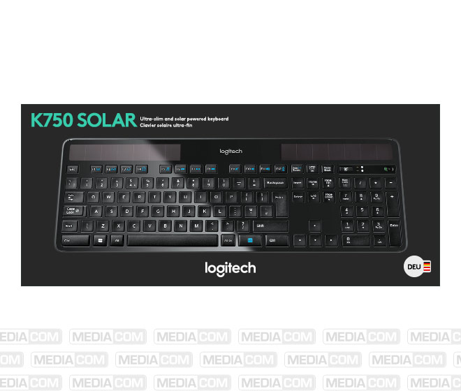 Tastatur K750, Wireless, Unifying, schwarz