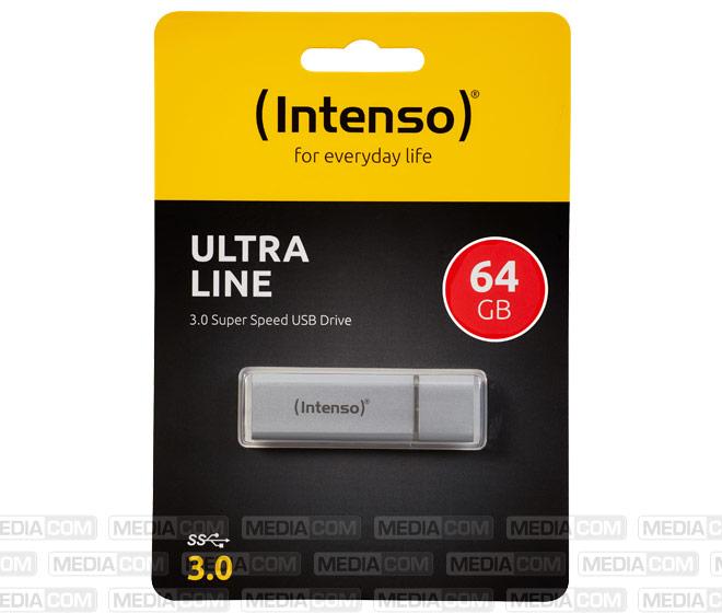 USB 3.0 Stick 64GB, Ultra Line, silber