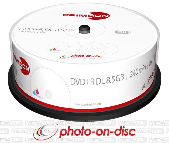 DVD+R DL 8.5GB/240Min/8x Cakebox (25 Disc)