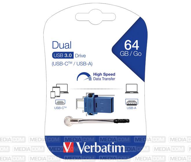 USB 3.0 OTG Stick 64GB, Typ A-C, Dual Drive
