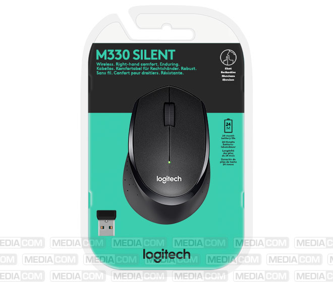Maus M330, Wireless, schwarz