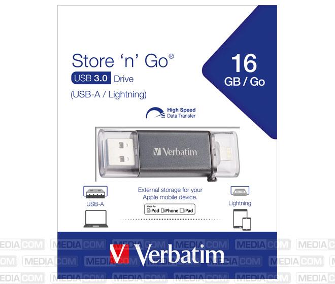 USB 3.0 OTG Stick 16GB, Store ´n´ Go Lightning