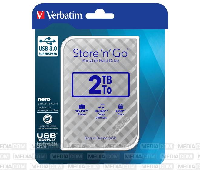 Festplatte 2TB, USB 3.0, 6.35cm (2.5''), silber