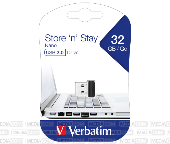 USB 2.0 Stick 32GB, Nano Store'n'Stay