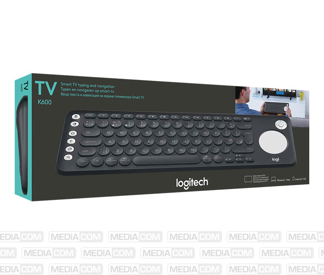 Tastatur K600, Wireless, Unifying, Bluetooth, schwarz
