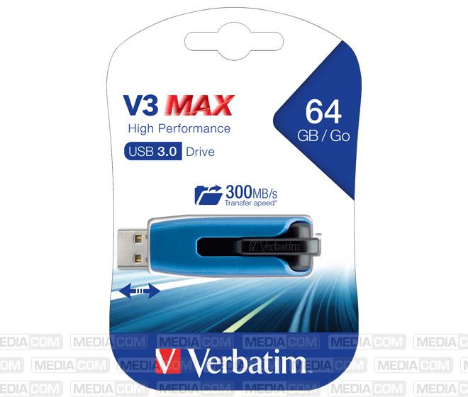 USB 3.0 Stick 64GB, V3 MAX, High Performance