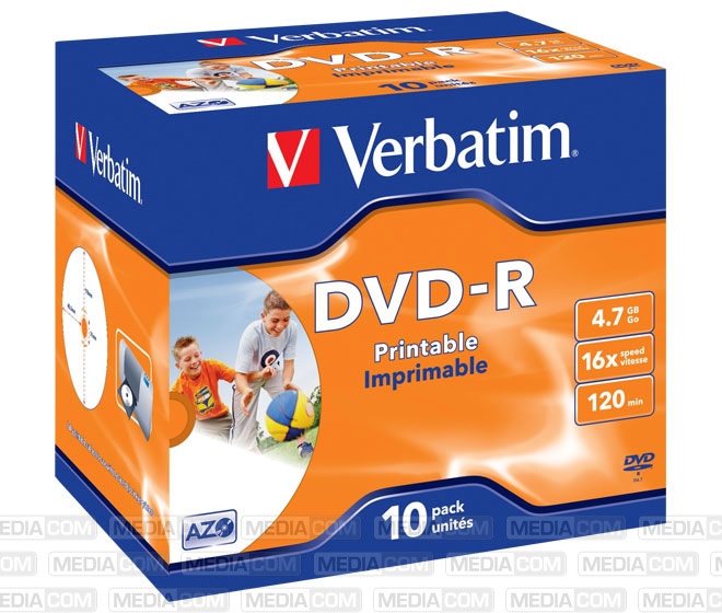 DVD-R 4.7GB/120Min/16x Jewelcase (10 Disc)