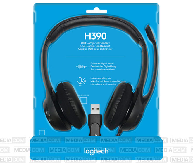 Headset H390, USB, Stereo