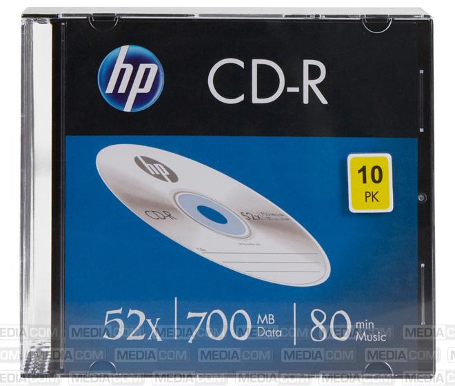 CD-R 80Min/700MB/52x Slimcase (10 Disc)