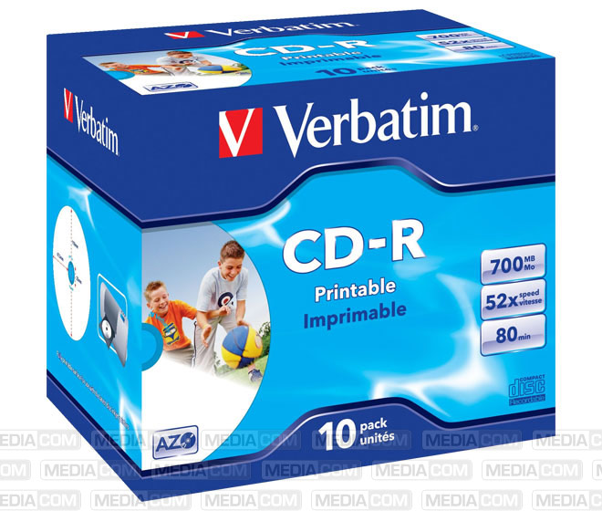 CD-R 80min/700MB/52x Jewelcase  (10 Disc)
