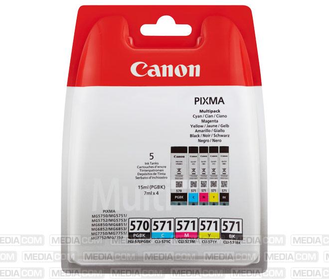 Tinten Multipack PGI-570PGBK/CLI-571BK/C/M/Y