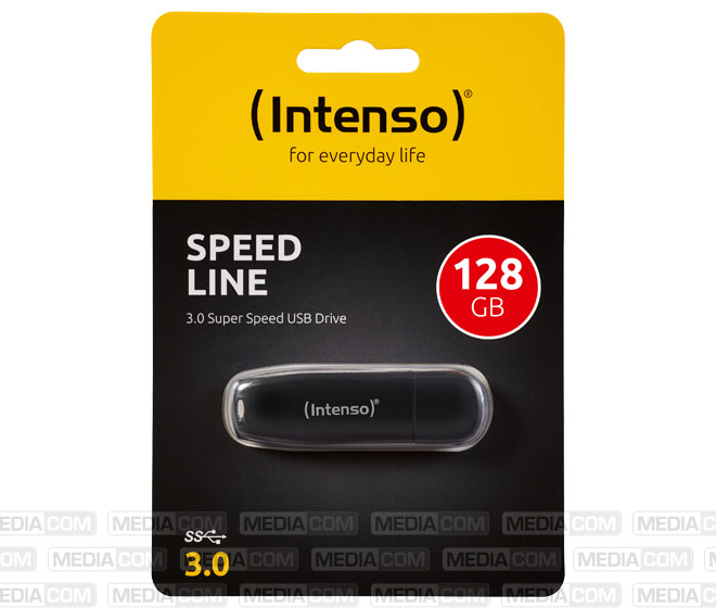 USB 3.0 Stick 128GB, Speed Line, schwarz