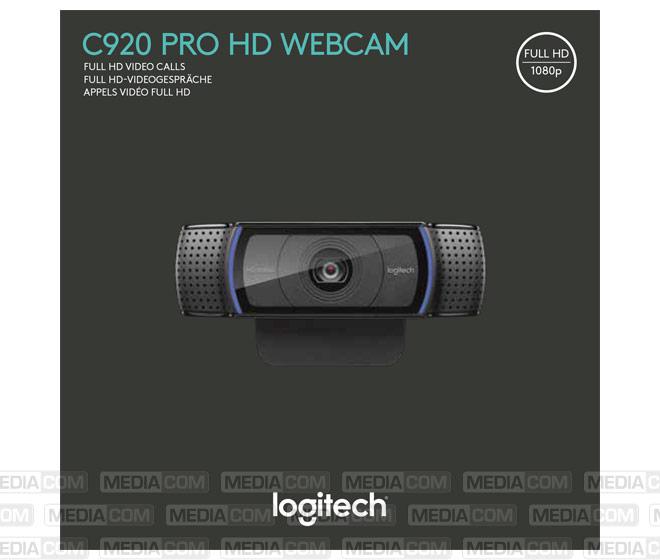Webcam C920, USB, Full HD 1080p
