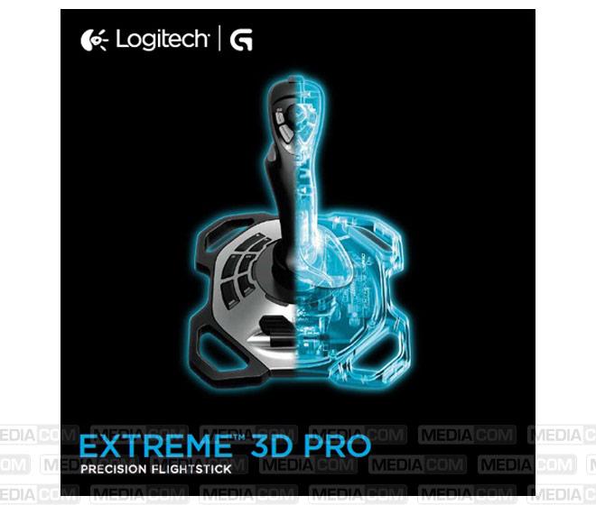 Gaming Joystick, Extreme 3D Pro, USB, schwarz/weiss
