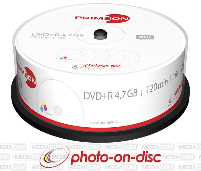 DVD+R 4.7GB/120Min/16x Cakebox (25 Disc)