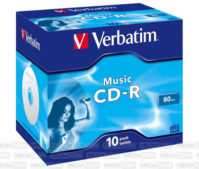 CD-R 80Min/AUDIO Jewelcase  (10 Disc)