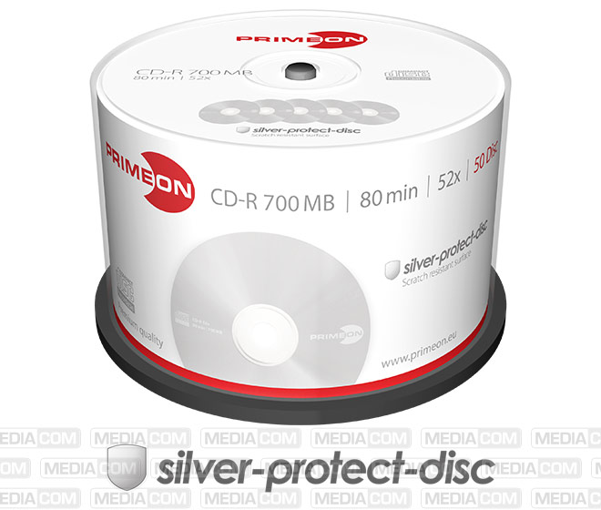 CD-R 80Min/700MB/52x Cakebox (50 Disc)