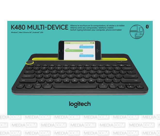 Tastatur K480, Wireless, Bluetooth, schwarz