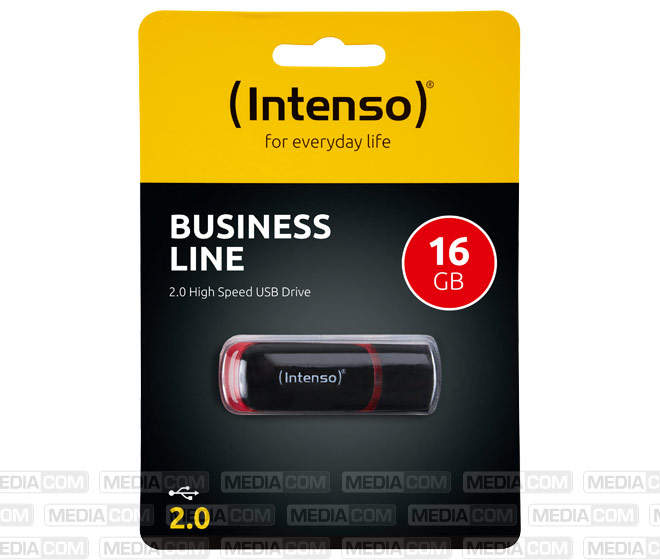 USB 2.0 Stick 16GB, Business Line, schwarz