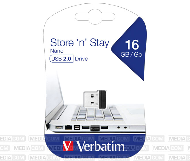 USB 2.0 Stick 16GB, Nano Store'n'Stay