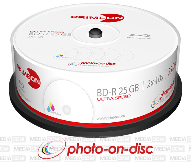 BD-R 25GB/2-10x Cakebox (25 Disc)