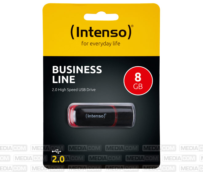 USB 2.0 Stick 8GB, Business Line, schwarz