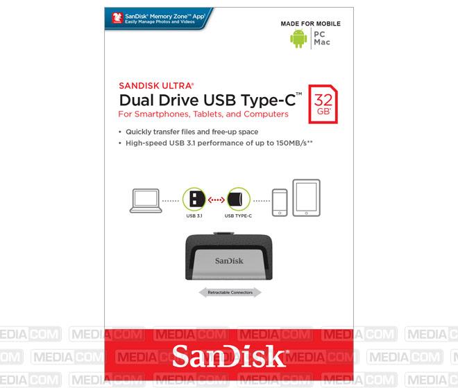 USB 3.1 OTG Stick 32GB, Typ A-C, Ultra Dual Drive