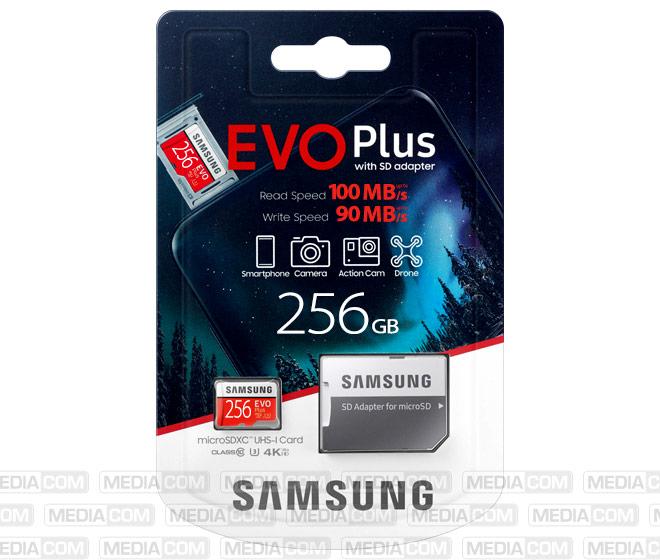 microSDXC Card 256GB, EVO Plus, Class 10, U3