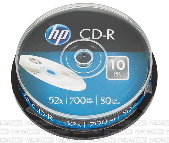 CD-R 80Min/700MB/52x Cakebox (10 Disc)