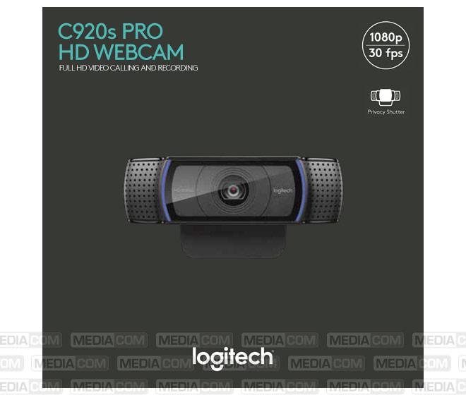 Webcam C920s Pro, USB, HD 1080p