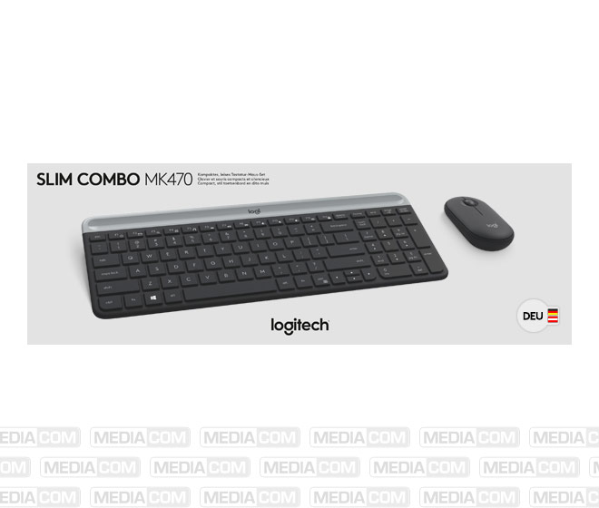 Tastatur/Maus Set MK470, Wireless, grafit